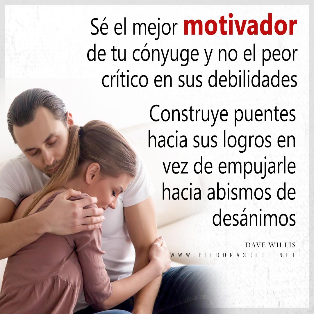 El esposo debe ser el mejor motivador de la esposa