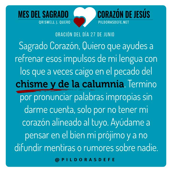 Oración del día 28 de junio al Sagrado Corazón de Jesus