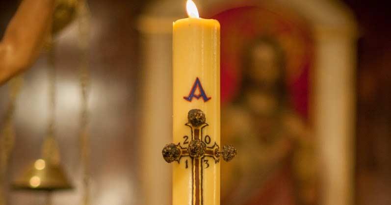 Cirio Pascual santa misa.Significado del Cirio Pascual