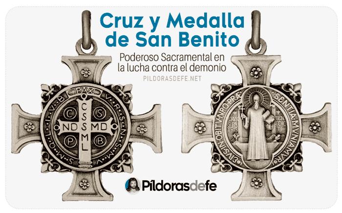 Cruz y Medalla de San Benito. Sacramental