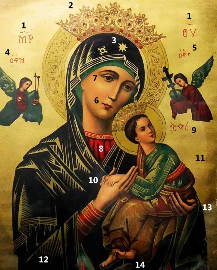 Ícono de Nuestra Señora del Perpetuo Socorro