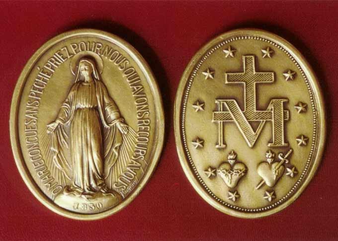 La medalla milagrosa de la Virgen María