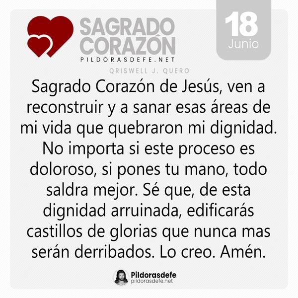 Oración al Sagrado Corazón de Jesús para el día 18 de junio