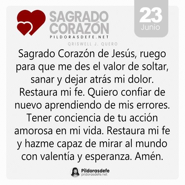 Oración al Sagrado Corazón de Jesús para el día 23 de junio