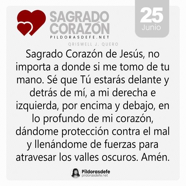 Oración al Sagrado Corazón de Jesús para el día 25 de junio