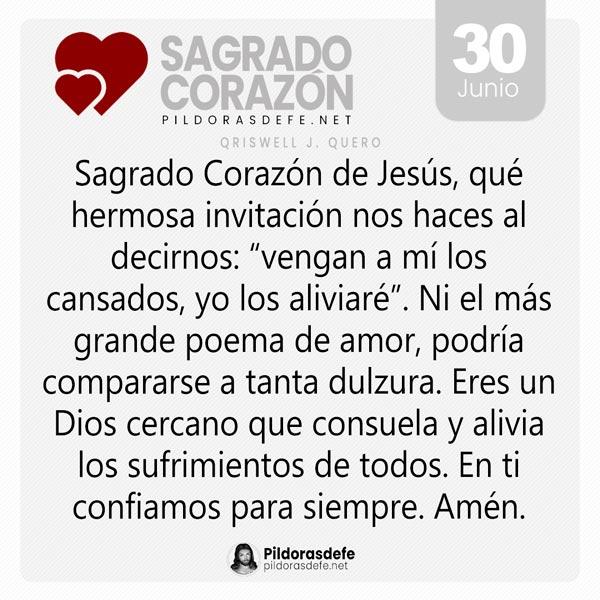 Oración al Sagrado Corazón de Jesús para el día 30 de junio