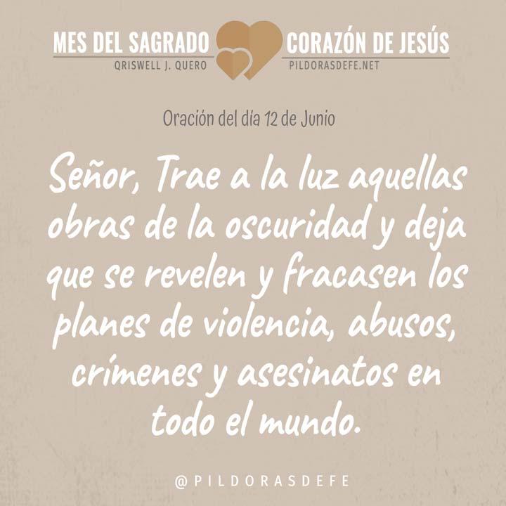 Oración al Sagrado Corazón de Jesús para el día 12 de junio