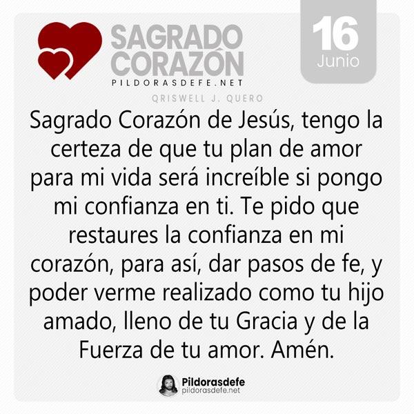 Oración al Sagrado Corazón de Jesús para el día 16 de junio