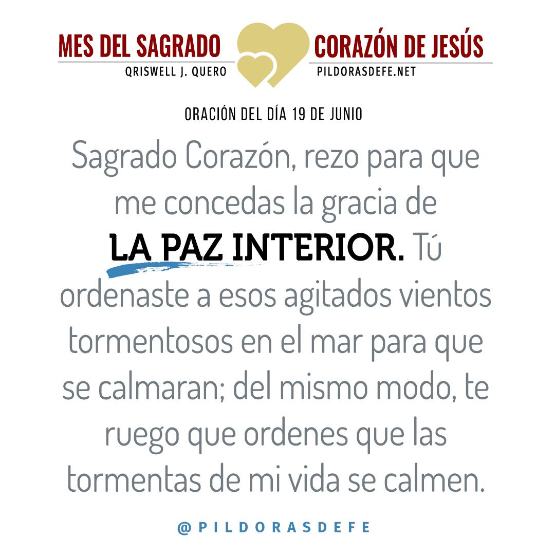 Oración para el día 19 de junio al Sagrado Corazón de Jesús