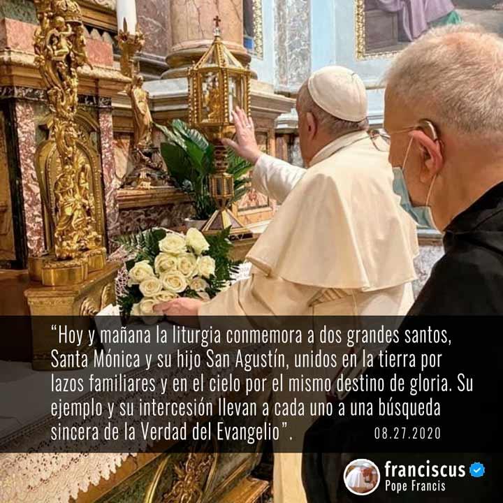 Mensaje del Papa Francisco sobre Santa Mónica y San Agustín