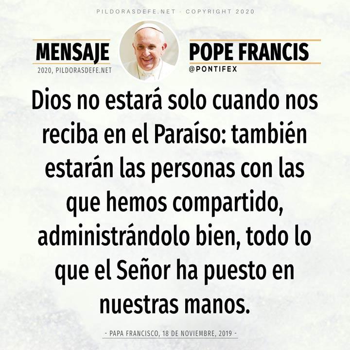 Palabra de reflexión de hoy 21 de mayo por el Papa Francisco