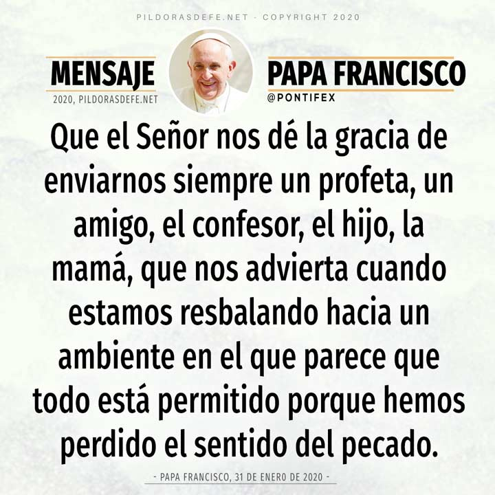 Reflexión del día 9 de mayo por el Papa Francisco