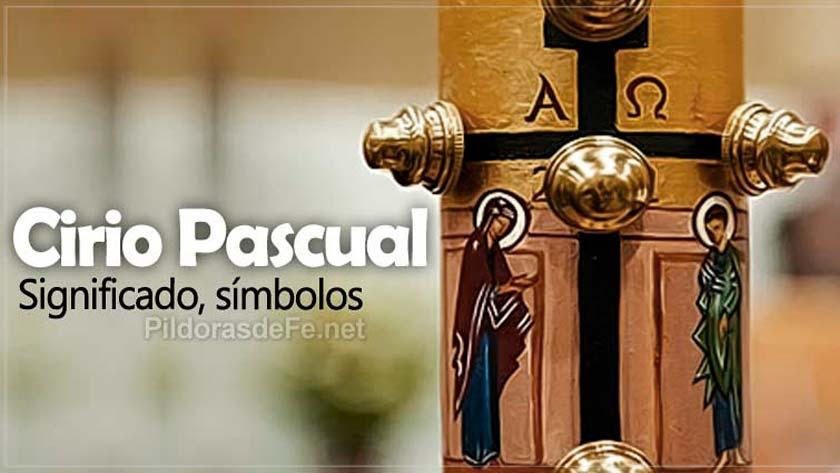 cirio pascual en vigilia de pascua sabado santo simbolos significado