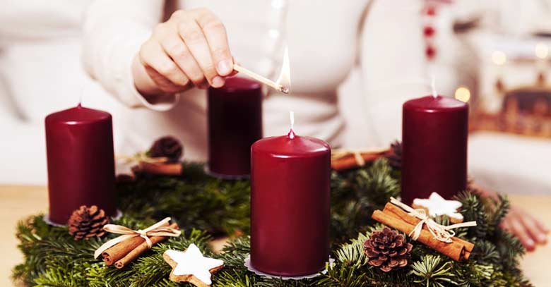 corona de adviento velas rojas encendido bendicion como hacerla