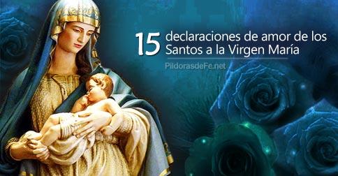 15 Declaraciones De Amor De Los Santos A La Virgen María
