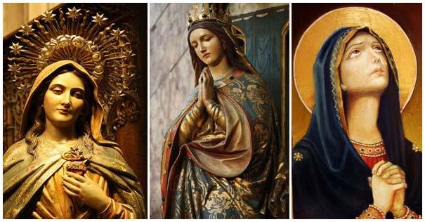 deformaciones del culto virgen maria imagenes