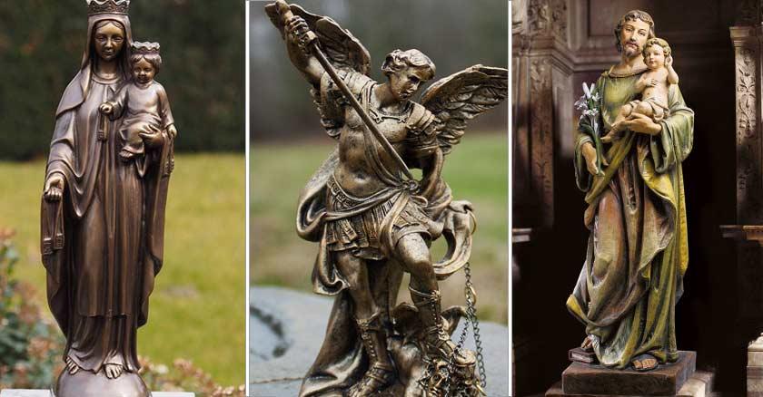 estatuas virgen maria nino jesus san miguel arcangel san jose nino