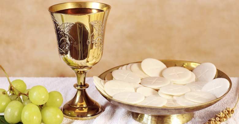 eucaristia comunion pan vino sagrado santa misa