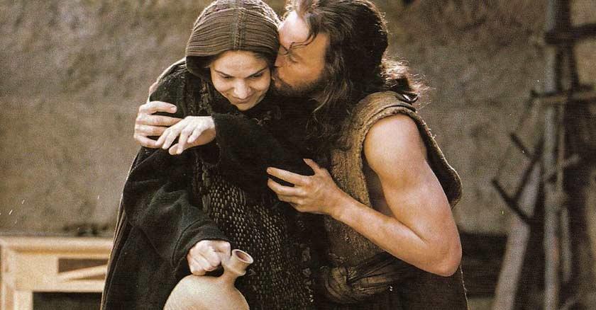 jesus besando a la virgen maria madre de dios pasion de cristo