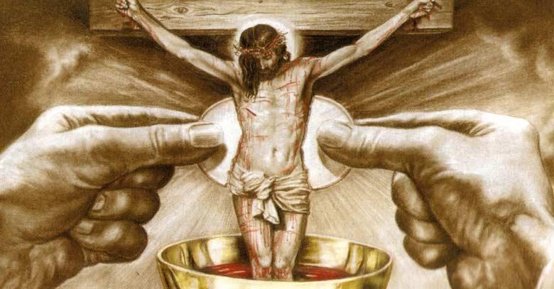 jesus eucaristia pan vino presencial real comunion