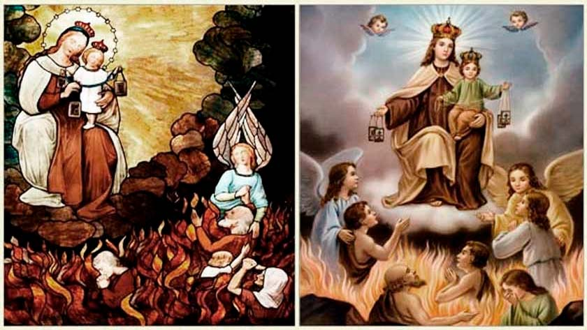 la virgen del carmen nuestra senora te ayuda a salir del purgatorio