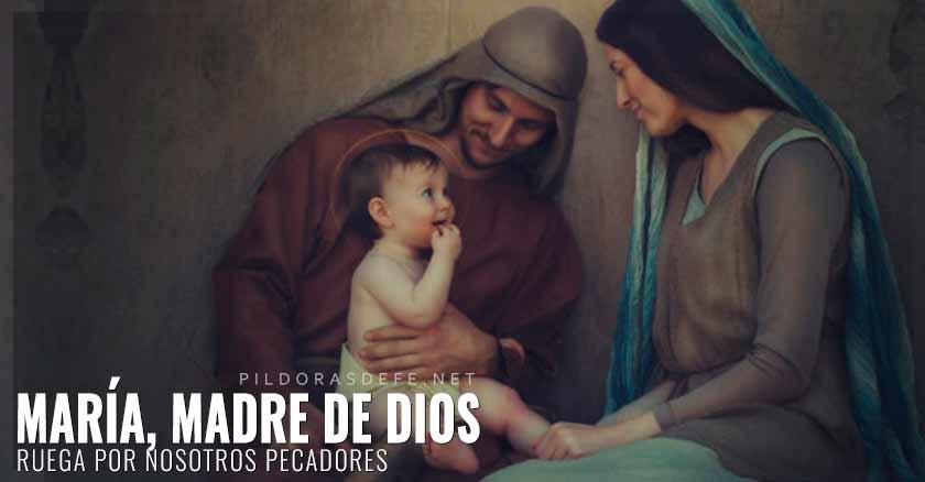 maria madre de Dios con san jose nino jesus ruega por nosotros pecadores