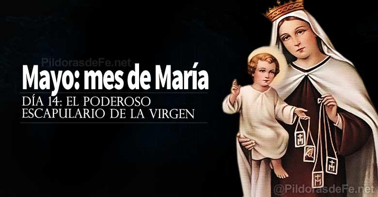 mayo mes de la virgen maria poderoso escapulario de la virgen del carmen dia