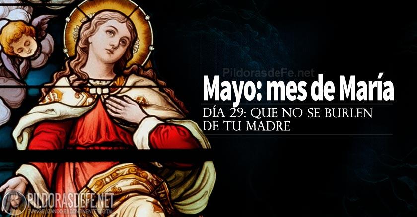 mayo mes de la virgen maria que no se burlen de tu madre dia