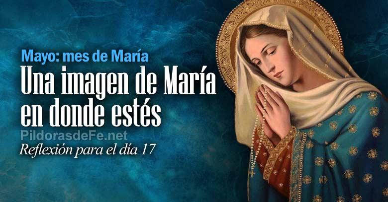 mayo mes virgen maria imagen en donde estes dia