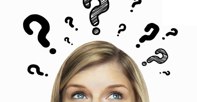 mujer cabeza encima signo interrogacion preguntas fe catolica