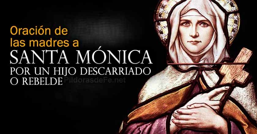 oracion por los hijos a santa monica