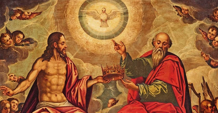 padre hijo espiritu santo paloma santisima trinidad en el cielo