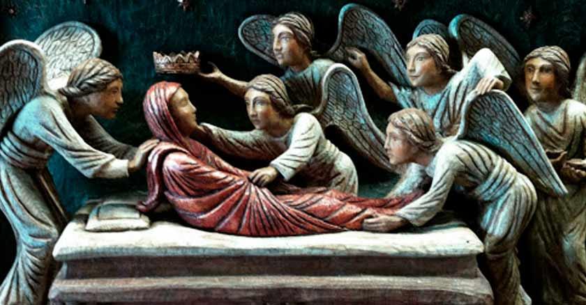 pintura asuncion de la virgen maria al cielo angeles