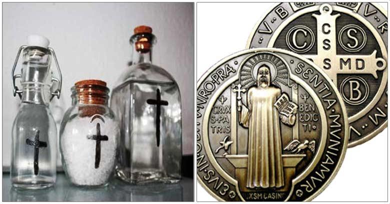 sacramentales medallas agua bendita sal iglesia catolica