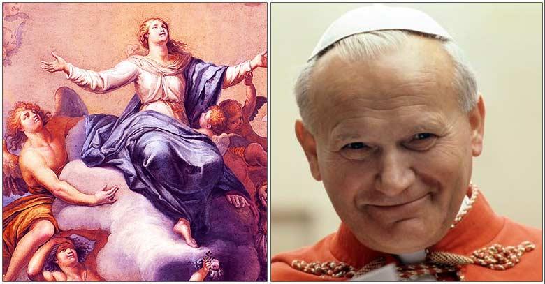 san juan pablo ii virgen maria asuncion al cielo