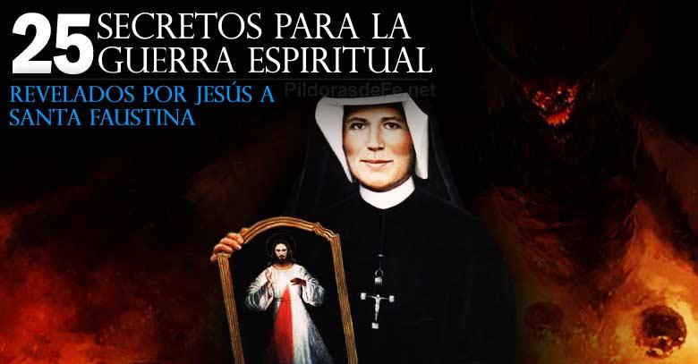 santa faustina secretos revelados por jesus para luchar guerra espiritual