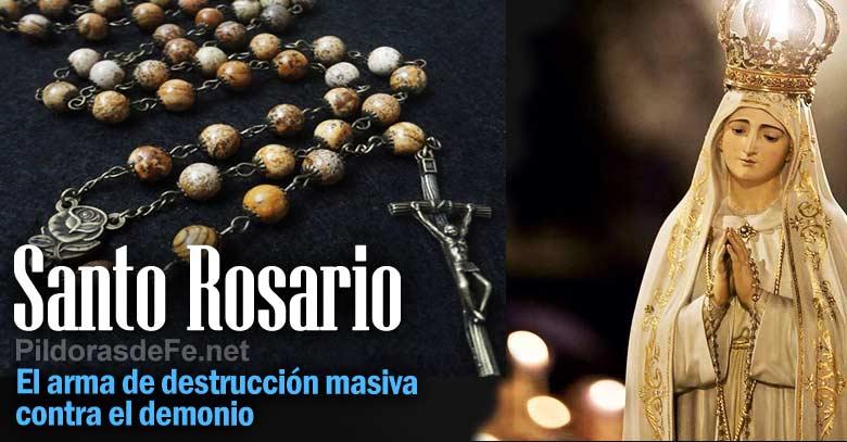 santo rosario arma destruccion masiva contra demonio