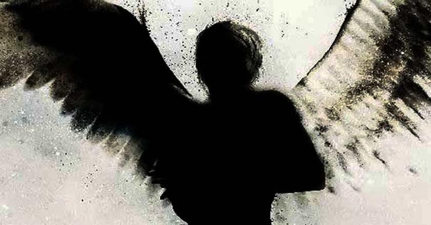 silueta de un angel negro oscuridad demonio