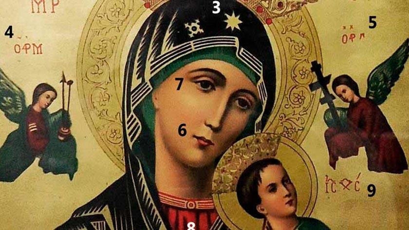 simbologia simbolos del icono de la pintura de nuestra senora del perpetuo socorro