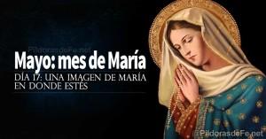 mayo mes de la virgen maria madre una imagen de maria en donde estes dia