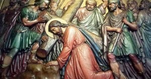 pasion de cristo cargando cruz pintura enfoque medicina ciencia