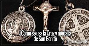 san benito medalla y cruz como usar