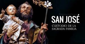 san jose custodio de la sagrada familia estatua nino jesus en brazo