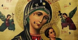 significado simbolos nuestra senora perpetuo socorro icono