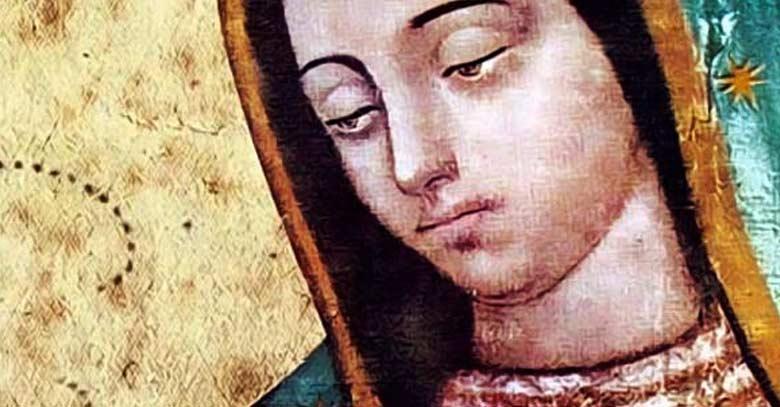 virgen de guadalupe misterio figura ojos
