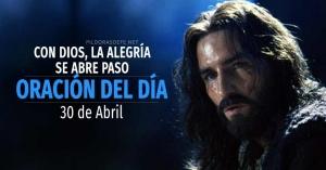 oracion del dia  de abril diaria reflexion de hoy con Dios la alegria se abro paso