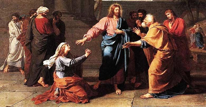 Resultado de imagen para jesus y la mujer cananea