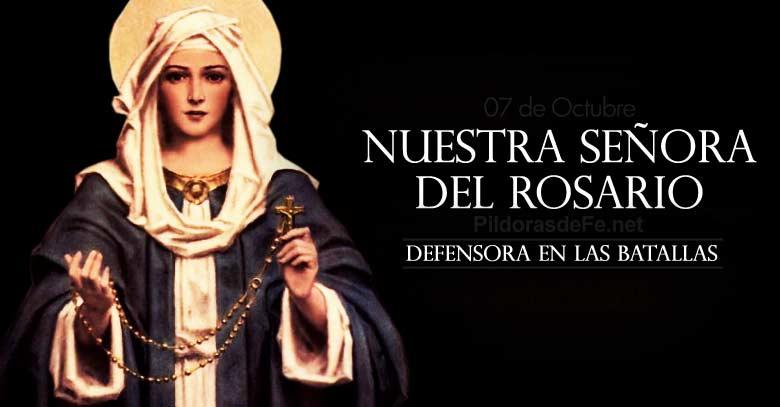 nuestra senora del santo rosario fiesta defensora en las batallas