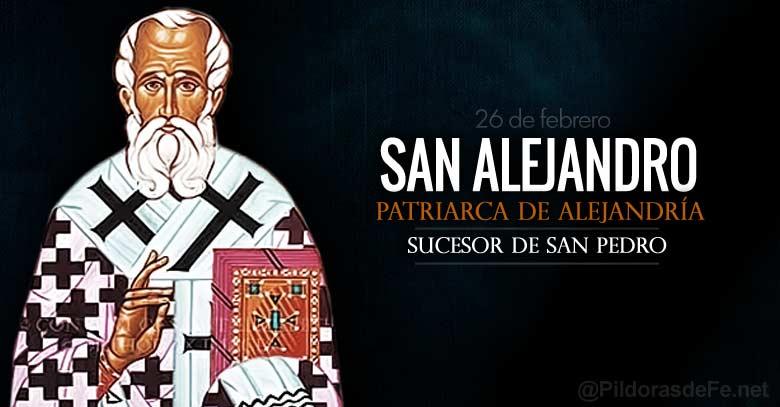 san alejandro patriarca de alejandria sucesor de san pedro