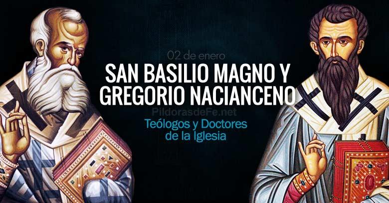 Santos Basilio Magno Y Gregorio Nacianceno Doctores De La